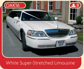 White Super-Stretched Limousine
