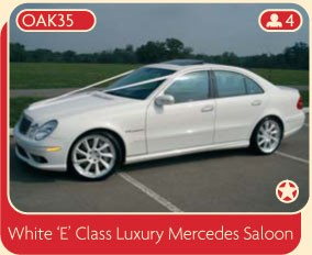 White E CLass Luxury Mercedes Saloon