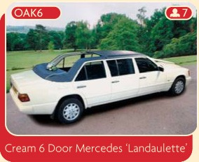 Cream 6 Door Mercedes Landaulette