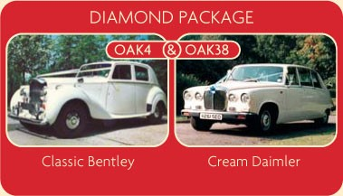 Diamond Package - Classic Bently and Cream Daimler - Click for More Details