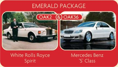 Emerald Package - White Rolls-Royce Spirit and Mercedes Benz S Class - Click for More Details